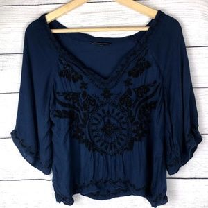 American Eagle Outfitters   Embroidered Crop Top